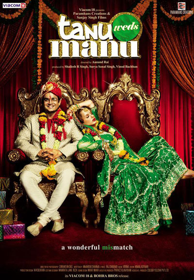 Tanu Weds Manu 2011 Hindi 720p BluRay DTS x264-DDR