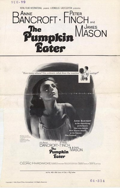 The Pumpkin Eater 1964 1080p BluRay DD1.0 x264-GHOULS