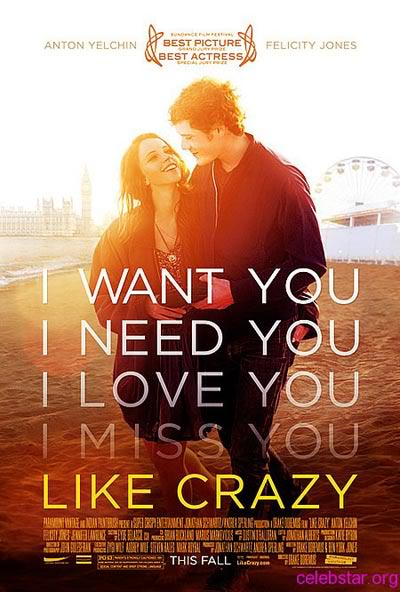 Like Crazy 2011 LIMITED 1080p BluRay x264-SPARKS